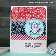 Using Mama Elephant stamp and coordinating die for the bunny. Pattern papers and washi tapes combined
