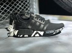 1ad6260d0 ADIDAS NMD RUNNING SNEAKER CUSTOM MADE BATMAN LOGO 331016 220