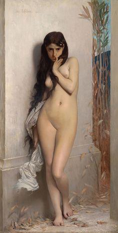 "JULES LEFEBVRE: ""La Cigarra"", 1872, oil on canvas,  186.7 x 123.8 cm, National Gallery of Victoria, Melbourne."