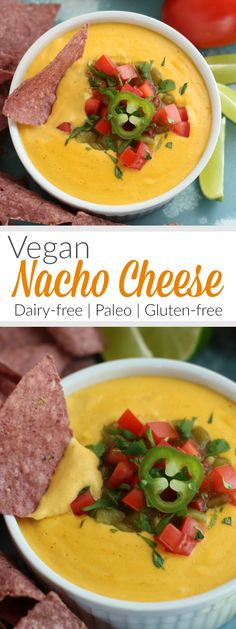 Vegan Nacho Cheese | The Real Food Dietitians | https://therealfoodrds.com/vegan-nacho-cheese/