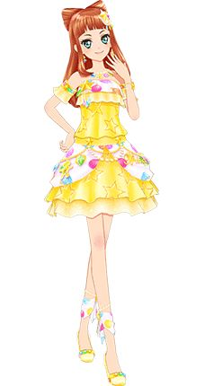 Aikatsu STARS! Ako Yellow Ornament Coord