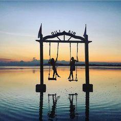 sunset swings at Gili Air Bali Paradise | island life | tropical getaway | beach daze | ocean vibes | sandy beaches | island vibes | sea breeze | sandy toes | salty hair | beautiful destinations | Travel destination
