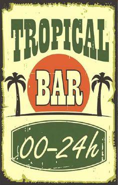 Earth de Fleur Homewares - Tropical Bar Wall Art Sign