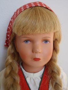 Vintage Germany Kathe Kruse Doll Swivel Head Pretty Face Original Box Dress | eBay