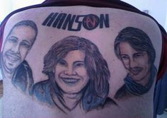 The 15 most regrettable tattoos of bands we forgot even existed. god, music tattoos, comedy, funni, hanson tattoo, bad tattoo, back tattoos, people, mornings