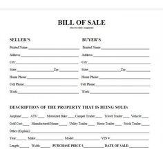 Printable Car Bill Of Pdf West Texas Atv S