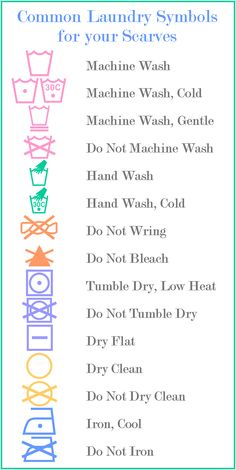 Common Laundry Symbols for Scarves