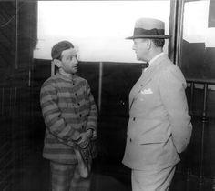 1912 Cayetano Santos Godino 'el petiso orejudo' en el penal de Tierra del Fuego, luego de ser capturado en Bs. As., en 1912