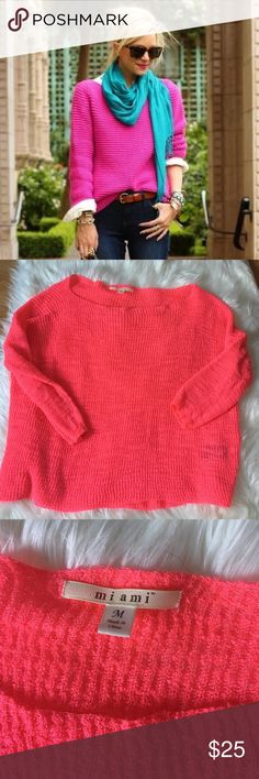 Francesca's Collections Pink Slouchy Sweater Excellent condition with no flaws and tons of life left!          Offers welcome 👍🏻                                                                 Discounted bundles 📦                                                          NO TRADES ❌ Francesca's Collections Sweaters