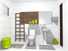 Banheiro revitalizado sem obra. http://dicasdearquitetura.com.br/banheiro-revitalizado-sem-obra/