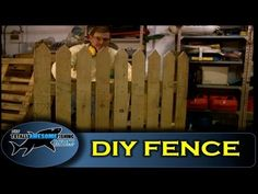 How to build a fence using pallet wood - Cheap, simple & easy! And this guy is so funny to watch. Good idea to keep michie out of moms garden.