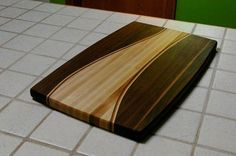 Walnut and Maple Cutting Board with Wood Inlay