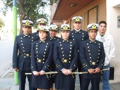 Cadets' dress uniform of the Military Naval School of Argentina.