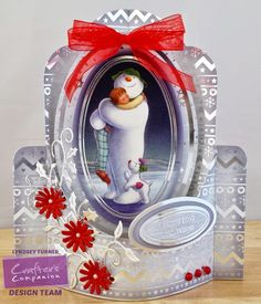 Crafters Companion Snowman/Snowdog Pop Out Card