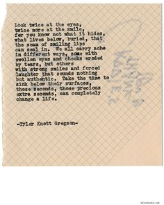 Typewriter Series #1461 by Tyler Knott GregsonChasers of the Light & All The Words Are Yours are Out Now!