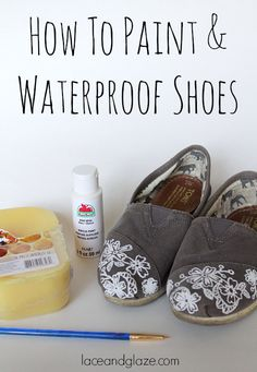 How To Paint & Waterproof Shoes Some of the links in this post may be affiliate links which I can earn a small commission off if you click and purchase the item, at no extra cost to you. Painted Converse, Painted Toms, Painted Canvas Shoes, Painted Sneakers, Painted Jeans, Custom Painted Shoes, Hand Painted Shoes, Custom Shoes, Painted Clothes