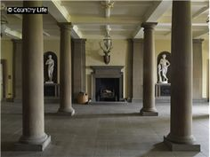 The pillared hall or arcade at Wentworth Woodhouse