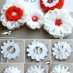 Flowers with a loom template.  It is easy to follow the insatructions from the pictures.