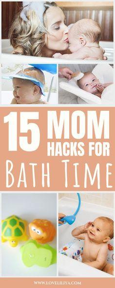 mom hacks bath time