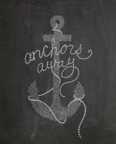 ANCHORS AWAY Art Print by Kelli Murray