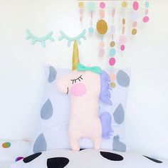 Image of Pastel Unicorn Unicorn Birthday, Unicorn Party, Girl Nursery, Girl Room, Unicorn Rooms, Unicorn Pillow, Sewing Projects, Diy Projects, Idee Diy