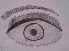 Drawing on an eye (by Angela Watts)