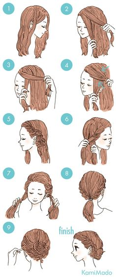 #Sporty and fancy hairstyles.