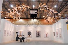 ArtBO the International Fair Exhibition in Bogotá. Corferias, Bogotá, Colombia Colombian Art, Chandelier, Ceiling Lights, Lighting, Home Decor, Art Fair, Clothing Stores, Candelabra, Decoration Home