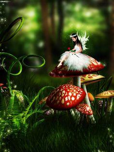 Petite fée champignon