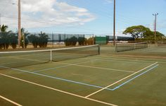 Blended Lines at Hanapepe Tennis Courts--Island of Kauai