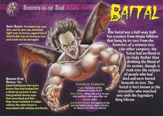 Name: Baital Category: Monsters of the Mind Card Number: 78 Front: Baital Monsters of the Mind card 78 front Back: Baital Monsters of the Mind card 78 back Trading Card: Creepy Monster, Monster Art, Monster Hunter, Mythological Creatures, Mythical Creatures, Creepy Facts, Fun Facts, Scary, World Mythology