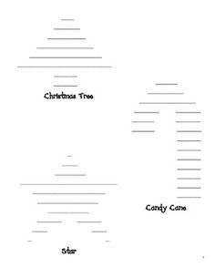 Holiday writing made simple! Fabulous and free winter shape poem templates!