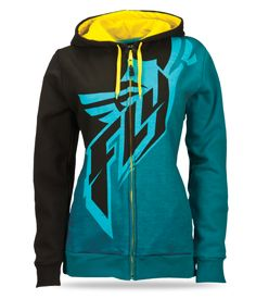 Arctic Ambience Black/Teal/Yellow Hoody | FLY Racing | Professional grade Motocross, BMX, MTB, Offroad, ATV, Snowmobile, and Watercraft appa...