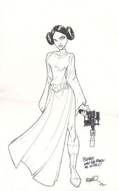 Princess Leia by Humberto Ramos                                                                                                                                                     More