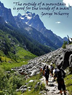 """""""The outside of a mountain is good for the inside of a man."""" #travel #quotes #GlacierNationalPark"""