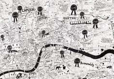 Jojo Oldham has put together her own take on the centre of London.