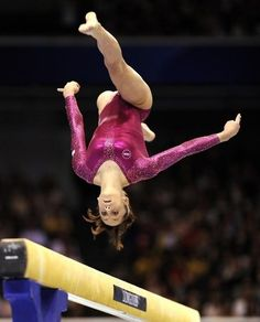 Jordyn Wieber in mid-air Gymnastics Quotes, Olympic Gymnastics, Olympic Team, Balance Beam, Jordyn Wieber, Floor Workouts, Bending, World Championship, Ice Skating
