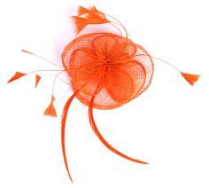 Orange Fascinator by www.FascinatosAustralia.com.au 6da1e057e37