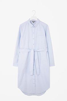 COS   Long belted shirt dress