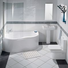 The Balterley Indulgence corner bath suite features smooth, clean lines