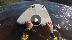 Thomas Paterson, a compassionate river boarder in Ottawa, Canada, sought to rescue a squirrel who had gotten stranded on a rock in the middle of a fast-flowing stream, but the tiny rodent was spook. Funny Animal Videos, Funny Animals, Cute Animals, Funny Videos, Squirrel Video, One Green Planet, Animal 2, Good People, Amazing People