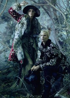 into the woods...Steven Meisel | Vogue US August 2010