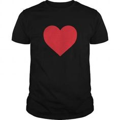 Short Sleeve Red Heart Valentine's Day T-Shirts & Hoodies Check more at https://teemom.com/holidays/short-sleeve-red-heart-valentines-day.html