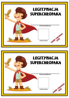 dyplom dzień chłopaka Diy And Crafts, Crafts For Kids, Class Games, Presents For Boyfriend, Classroom Decor, Kids And Parenting, Diy Gifts, Preschool, Education