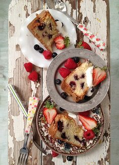 4th of July Dessert: Mixed Berry Cake
