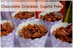 These chocolate crackles are made with real chocolate and are copha free. Excellent to make with the kids and are a delicious party food.
