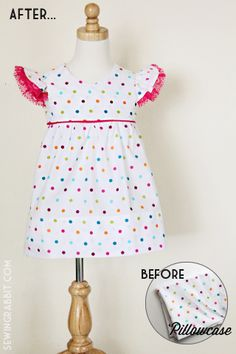 Me Sew Crazy: KCWC - Day 2, Polka Dots & Mismatched Buttons