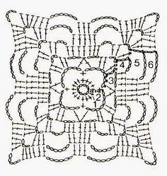 Transcendent Crochet a Solid Granny Square Ideas. Inconceivable Crochet a Solid Granny Square Ideas. Crochet Stitches Free, Crochet Motif Patterns, Crochet Blocks, Crochet Mandala, Crochet Diagram, Crochet Chart, Crochet Squares, Crochet Granny, Crochet Doilies