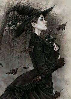 Fantasy Witch, Dark Fantasy Art, Halloween Imagem, Halloween Art, Halloween Table, Halloween Signs, Halloween Stuff, Vintage Halloween, Halloween Makeup