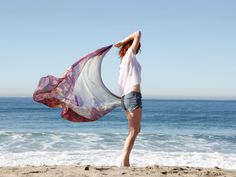 The cotton silk blend works equally well as a scarf, sarong or shawl.